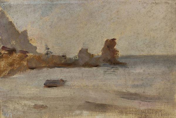 Brzeg morza w Hurzuf. Z podróży do Krymu - Jan Ciągliński