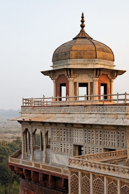 Mussaman Burj, Agra Fort Perhaps the jewel of Agra Fort, Mussaman Burj was built from 1631 to 1640 by Moghul emperor Shah Jahan for his favourite wife, Mumtaz Mahal. After his son Aurangzeb overthrew him, he was confined to Agra Fort for the rest of his life. It is said he spent his final years here where he could look out at the Taj Mahal, his wife's tomb.