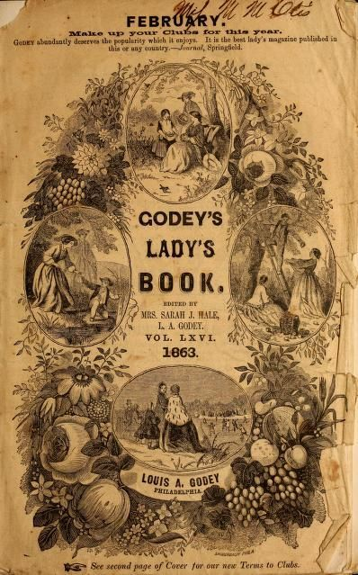 Godeys Ladys Book February 1863 Cooking Books Pinterest