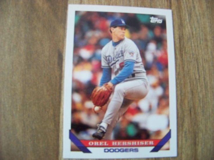 1993 Topps Orel Hershiser BB Card Los Angeles Dodgers 1992 Season #255 - Vintage #LosAngelesDodgers