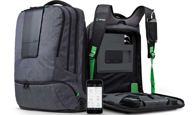 AMPL Labs SmartBackpack With Laptop And USB Charger