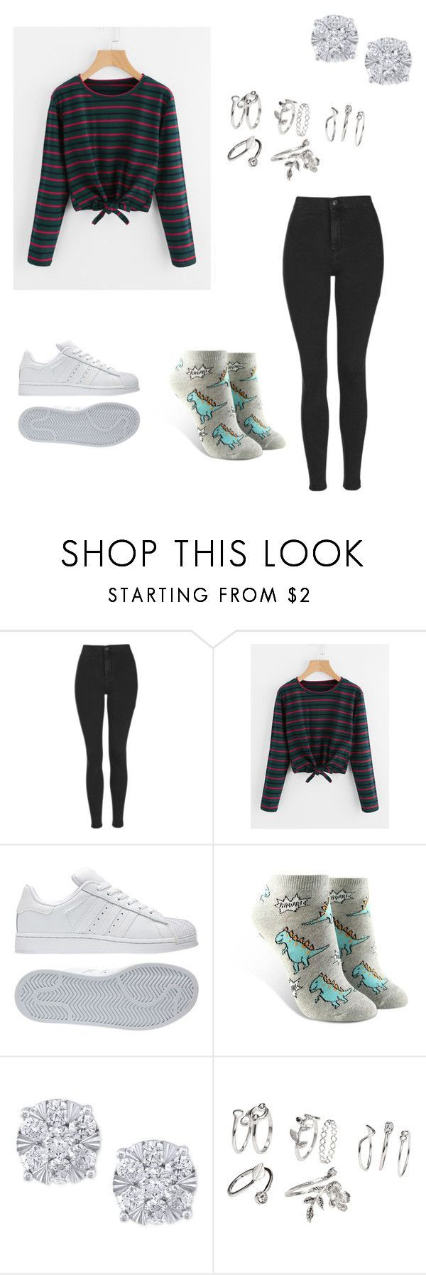 """""""School Outfit #30"""" by junhuiswifey on Polyvore featuring Topshop, adidas, Forever 21 and Effy Jewelry #schooloutfits"""