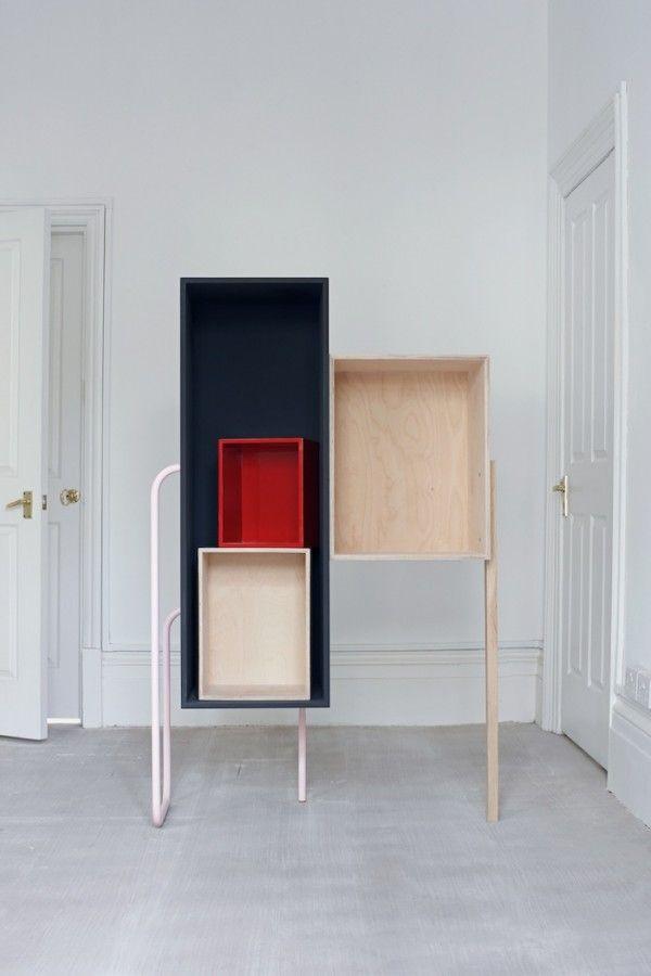 Best 25 etagere cube bois ideas on pinterest arrangements de d coration murale etagere cube - Les etageres funky d de quirky ...