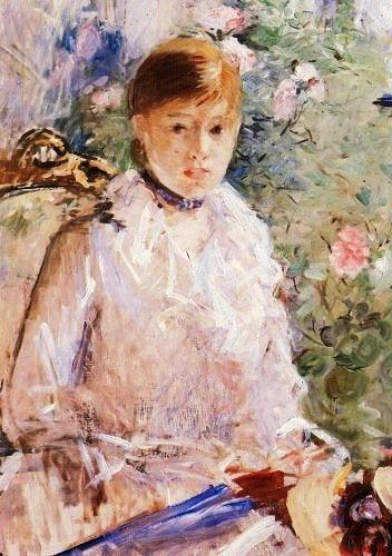 Berthe Morisot -  (1841-1895) Summer - Young Woman by a Window, 1878. Oil on canvas. 76 x 61 cm. Fabre Museum, Montpellier, France.