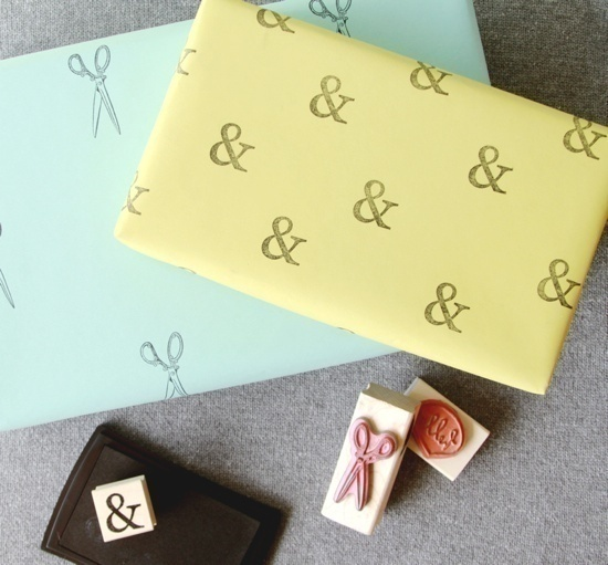 How To Make Custom Wrapping Paper With Stamps