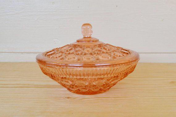 Pink Depression glass  Vintage Pink Depression by JudysJunktion, $25.00