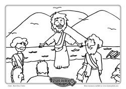 Jesus Calls The Disciples Colouring Page