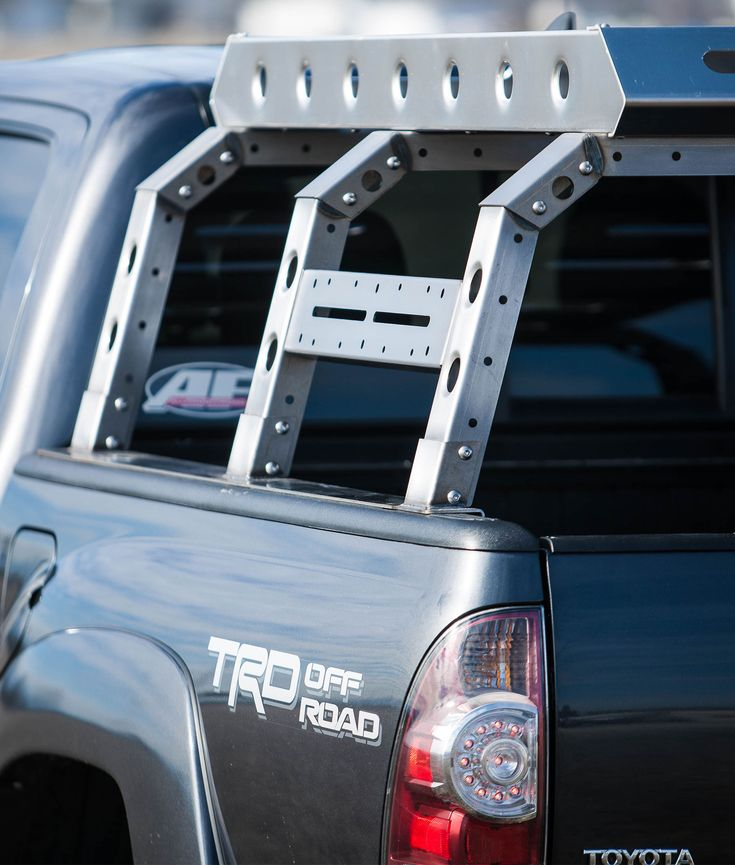 """Modular Bolt-Together System No Welding required. Growing list of accessories Roof Tent Compatible Optional Roof Basket Optional Gear Rack Ships Bare Powder-coating Optional Ships UPS ground Lightweight: 100lbs Bare 16"""" Tall from top of Bed Rail Made in USA 4-6 week lead time"""