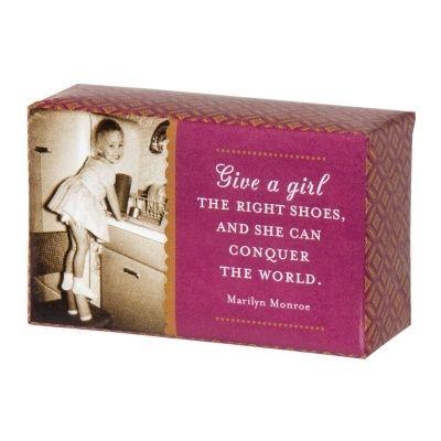 LolaViola - Soap:  The Right Shoes, $8.00 (http://lolaviola.co/soap-the-right-shoes/)