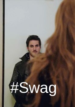 I love how Hook walks around after everything with Emma is better
