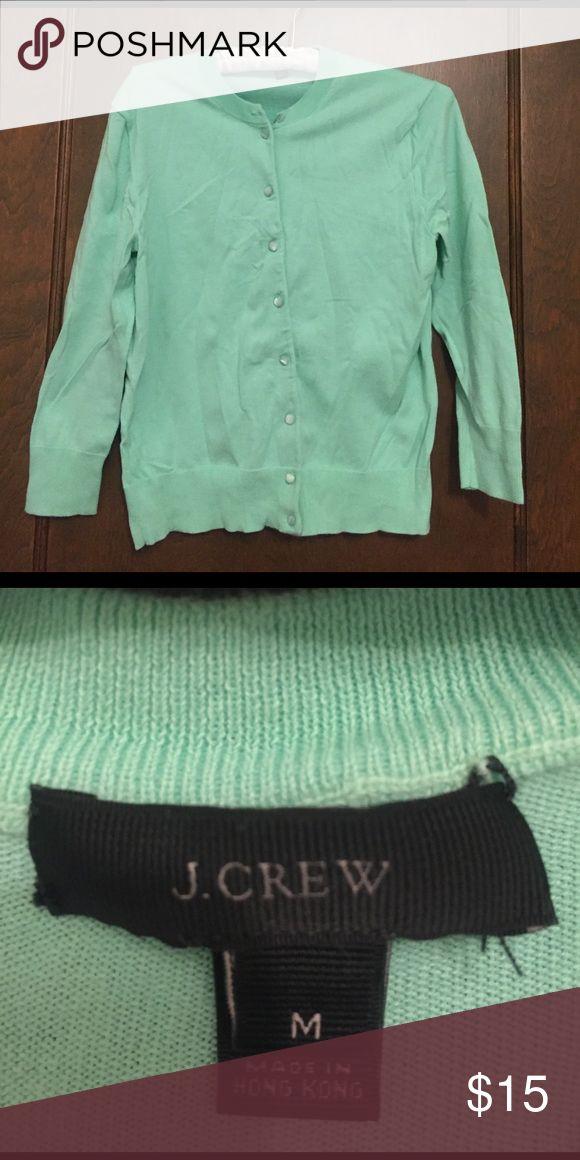 JCrew Mint Cardigan Mint 3/4 Cardigan, worn twice J. Crew Sweaters Cardigans