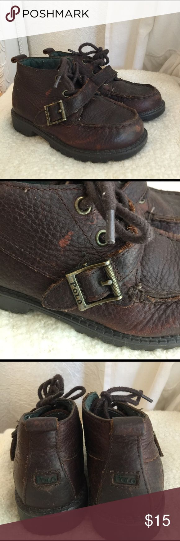 Polo By Ralph Lauren Boys distressed hiking boots Polo by Ralph Lauren Boys Distressed leather hiking boots size 9.5 Polo by Ralph Lauren Shoes Boots