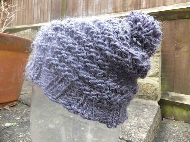 How To Loom Knit Slouchy Beanie Basketweave : Best loom knit hats scarves images on