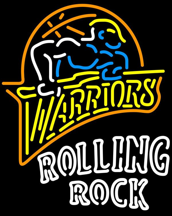 Rolling Rock Double Line Golden St Warriors NBA Neon Sign 2 0027, Rolling Rock with NBA Neon Signs | Beer with Sports Signs. Makes a great gift. High impact, eye catching, real glass tube neon sign. In stock. Ships in 5 days or less. Brand New Indoor Neon Sign. Neon Tube thickness is 9MM. All Neon Signs have 1 year warranty and 0% breakage guarantee.