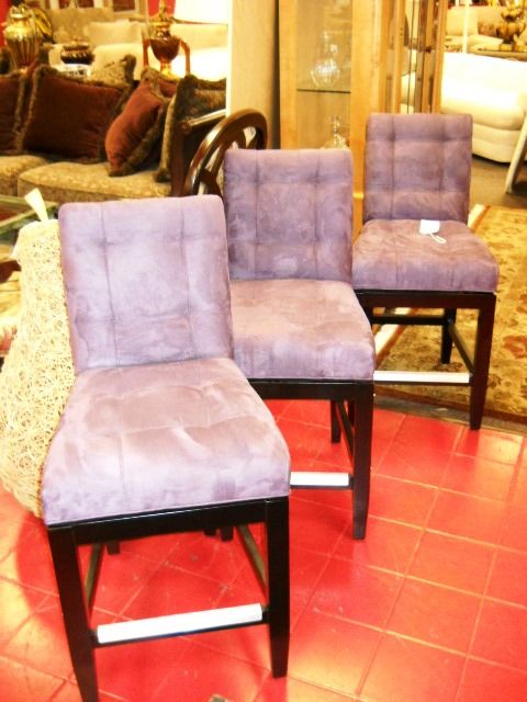 Awesome Purple Swivel Bar Stools Www.pastperfectconsignment.com