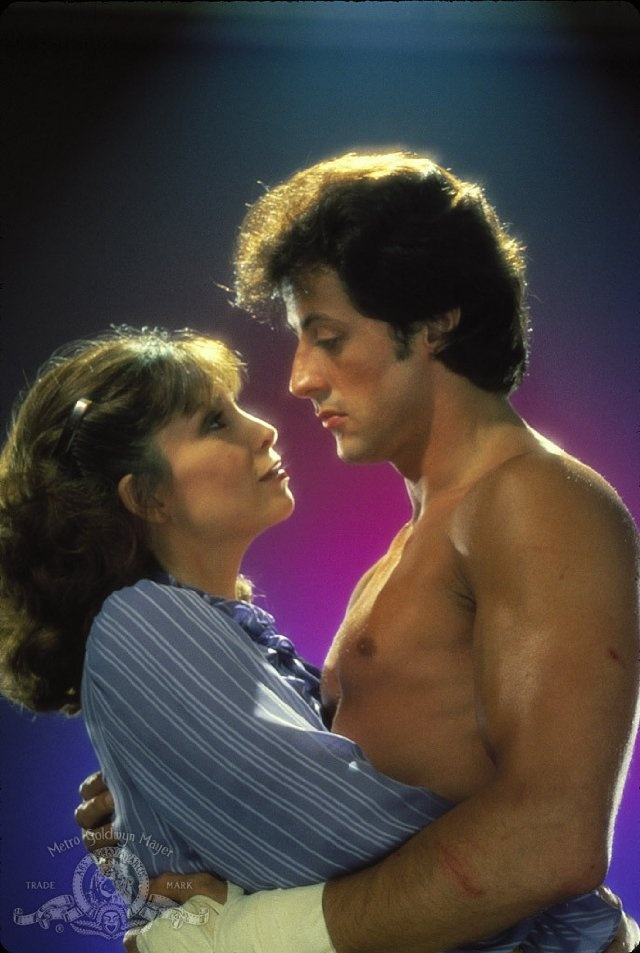 Sylvester Stallone and Talia Shire in Rocky III