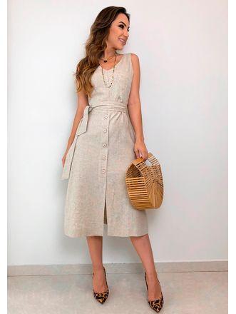 5bda334b6 Vestido-Linho-Cordao-Luana | vestidos em 2019 | Fashion dresses ...