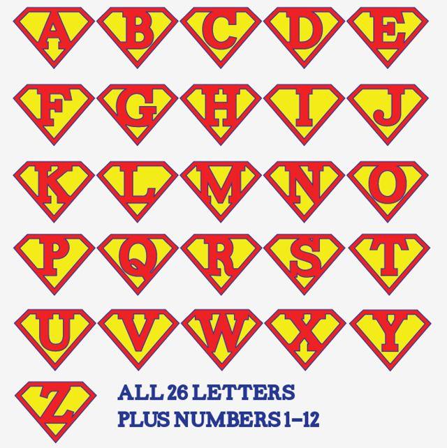 Printable Superman Birthday Party Banner Plus Printable Iron-On