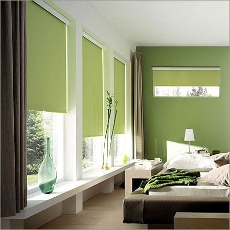 green roler blinds