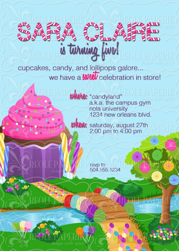 Best 25 candy land invitations ideas on pinterest candy land sweet shopcandy land birthday party invitation by creolepaperie 1200 stopboris Choice Image