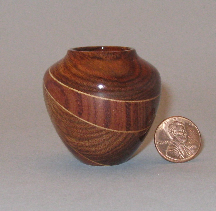 Douglas Crawforth - Chechen & Bubinga Turned Wood vasd