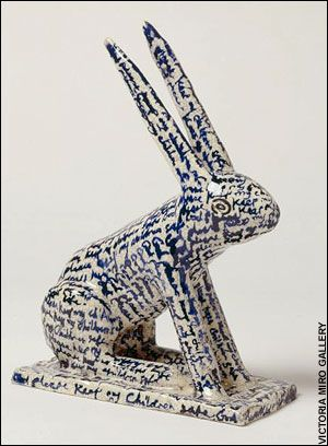 God Please Keep My Children Safe, by Grayson Perry (ceramic rabbit).