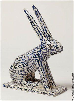 God Please Keep My Children Safe, by Grayson Perry (ceramic rabbit).