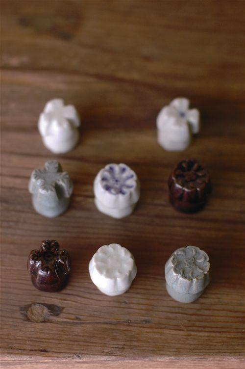 倉敷意匠 透明釉餅型 箸置き B
