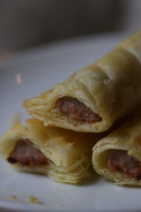 Gluten-free puff pastry sausage rolls