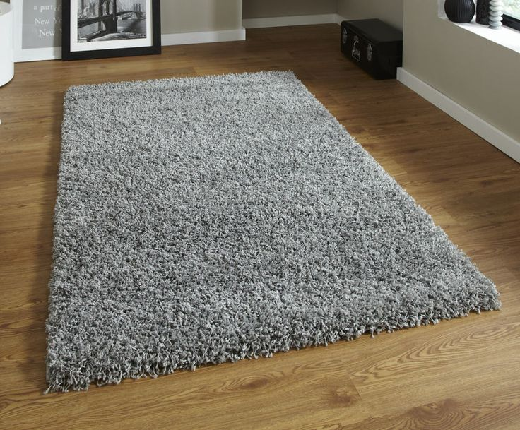 Brand New Grey Shaggy Rug 120 x 170 cm (4'0 x 5'7 ft) #Vista2236Grey #Shaggy
