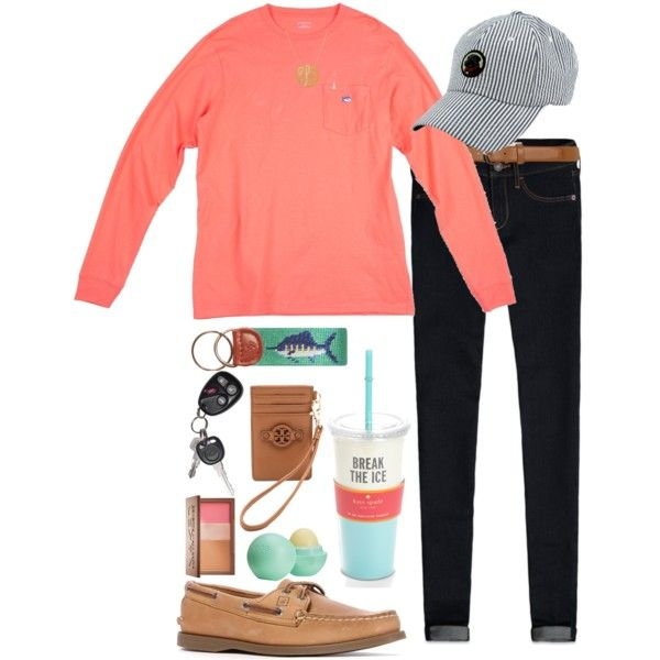 A fashion look from April 2014 featuring Abercrombie & Fitch leggings, Sperry Top-Sider shoes and Tory Burch wallets. Browse and shop related looks.