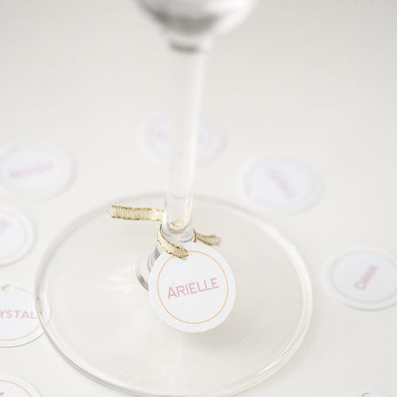 7 Clever Wedding Drink Accessories (wine glass name tag by kayden ashley)