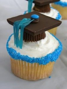 Ideas for graduation celebration cupcake themes and toppers