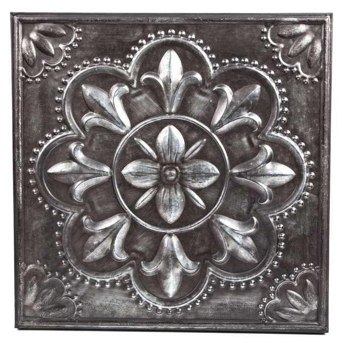 Metal Flower Wall Decor Hobby Lobby : Pewter flower metal wall decor walls and