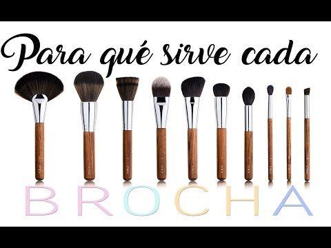 PARA QUÉ SIRVE CADA BROCHA: Manejo y limpieza de pincelería de maquillaje - YouTube