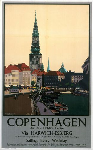 Copenhagen - Ideal Holiday Centre by National Railway Museum - art print from Easyart.com