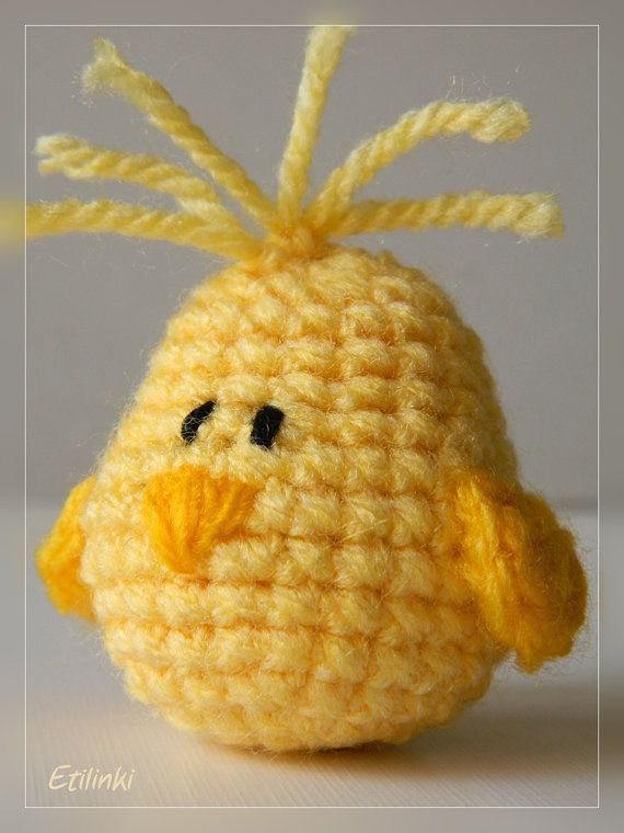 Easter Chick Amigurumi - Miniature Chick - Easter Gift Home Decoration - Tiny… #CrochetEaster