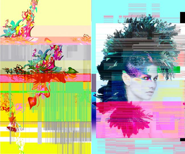 """Fashion photographer Per Zennstrom uses a glitch generator to digitally distort and """"destroy"""" his images in an experimental and colorful beauty project with hair designed by Carina Finnström and make-up by Fredrik Stambro.When the photographer came across a Glitch Generator, created by Georg Fisher, he immediately knew that he had to try it out on […]"""