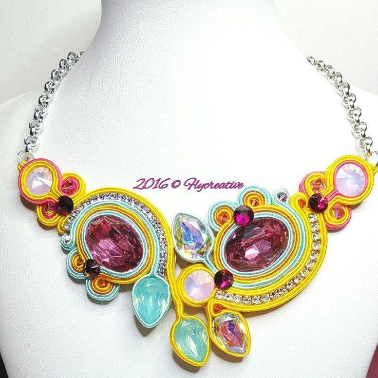 """L'ALBA DEL GIORNO DOPO""  NECKLACE - NOT AVAIABLE - #flycreative #flyspringindeas #flyspring #flycreativeworld #flycancan #flycreativestyle #frenchcancan #soutache #boho #bourlesque #bohemien #ooak #costumejewelry #handmadecustom #hanmade #necklace #Swarovski #swarovskielements #blogger #fashionblogger #luxuryblogger #luxurylife #luxury #style #instacreative #instajewelry #instaphoto #instamood #instafashion"