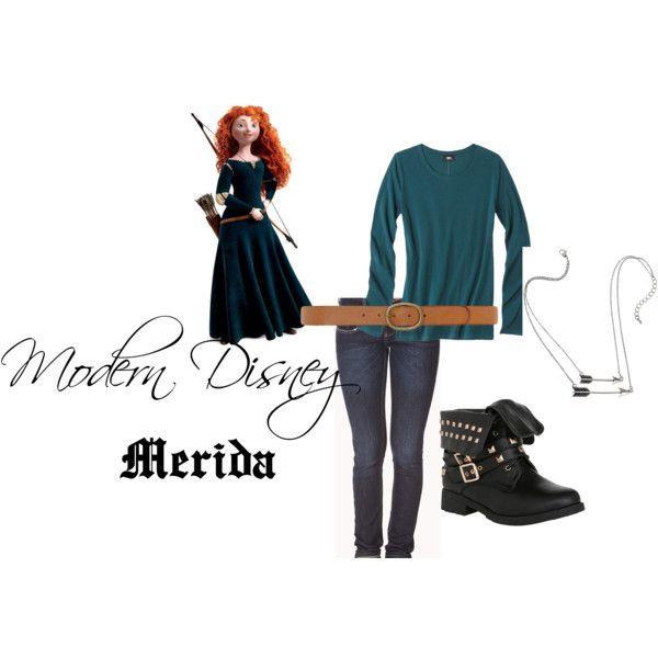 """Modern Disney- Merida"" by air4everme on Polyvore"