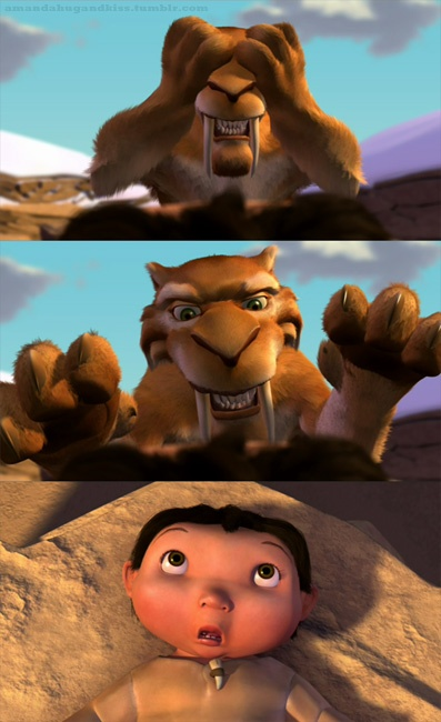 "Flashback Friday!  ""Where's the baby?"" ""There he is!"" - Diego, Ice Age"