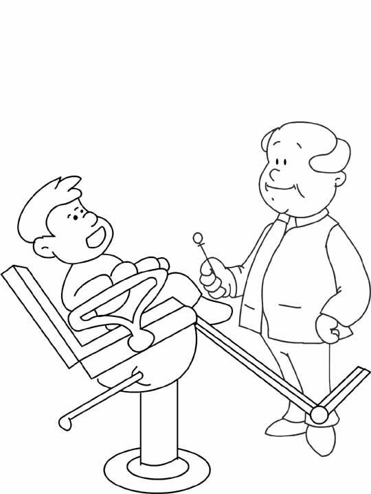 free coloring pages dentist - photo#16