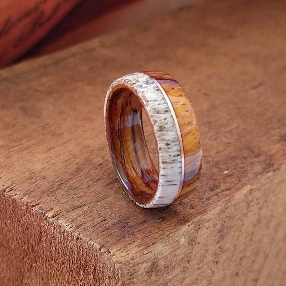 264 Best Wooden Wedding Rings Images On Pinterest Anniversary