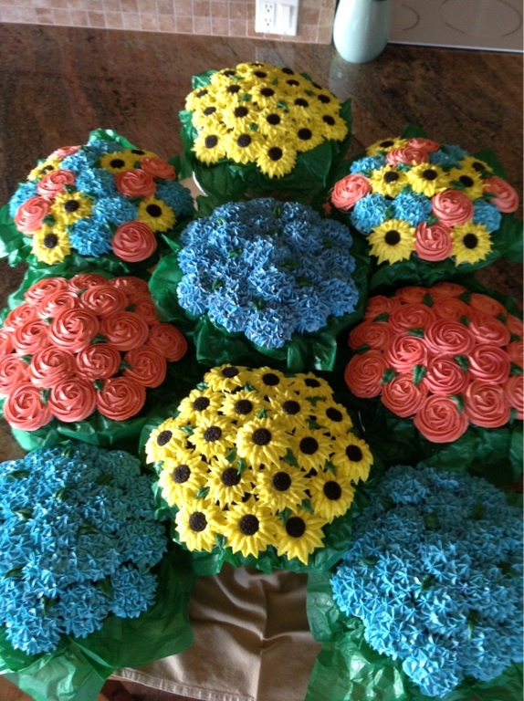 Chocolate Cupcake Flower Bouquets