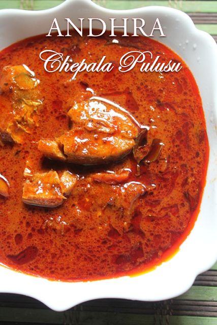 YUMMY TUMMY: Andhra Spicy Fish Curry Recipe / Andhra Chepala Pulusu Recipe