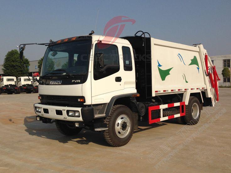 12cbm FVR Isuzu compressor garbage truck refuse collection vehicle
