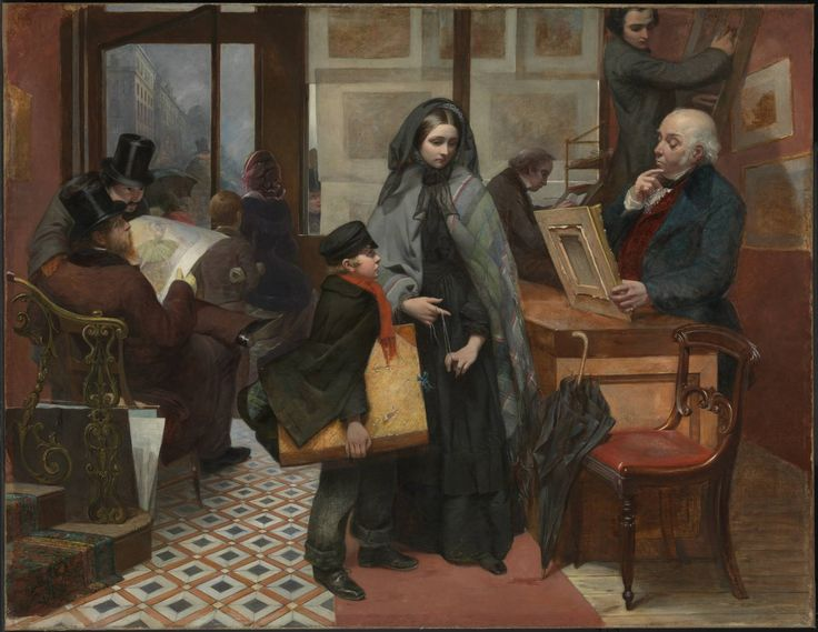 """'Nameless and Friendless. """"The rich man's wealth is his strong city, etc."""" - Proverbs, x, 15', Emily Mary Osborn, 1857 