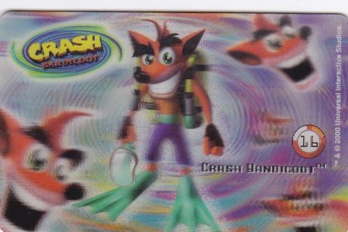 CARD CARTA 3D  CRASH BANDICOOT MR. DAY PARMALAT 2000 CARTA N.  16  OTTIMA