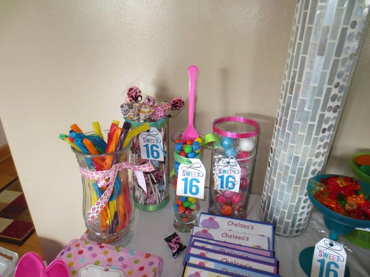 Sweet 16 Candy Table Ideas Photograph