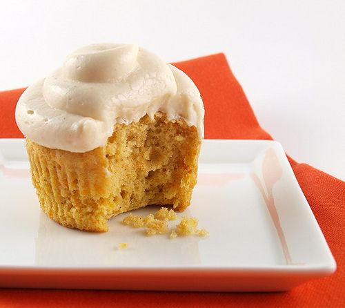 Sweet Potato Cupcakes with Brown Butter Cream Cheese Frosting (Just Desserts Challenge)